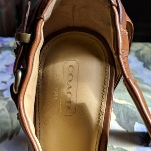 Coach leather heels gently used